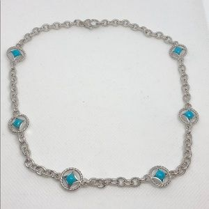 Judith Ripka turquoise necklace